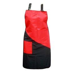 Фартук ESTET черно-красный 1 карман 60х80 см