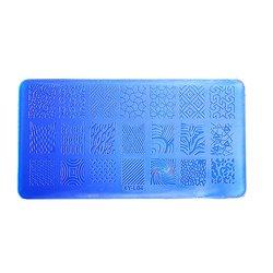 Пластина для стемпинга YRE XY-L04 пластик, синий