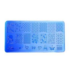 Пластина для стемпинга YRE XY-L12  пластик, синий