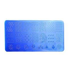 Пластина для стемпинга YRE XY-L13  пластик, синий