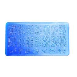 Пластина для стемпинга YRE XY-L26  пластик, синий