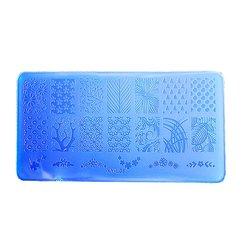 Пластина для стемпинга YRE XY-L08 пластик, синий