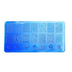 Пластина для стемпинга YRE XY-L05  пластик, синий