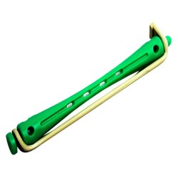 Бигуди для химзавивки, бело - зеленые 12 шт (300400)