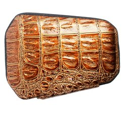Маникюрный набор KDS - коричневый крокодил, многоугольник  (4-7103)