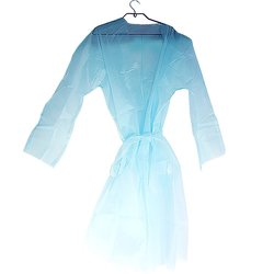 Халат-кимоно мини c поясом L-XL голубой