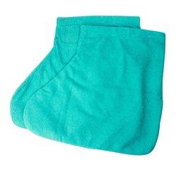 Носочки для парафинотератиии махровые хлопковые, бирюзовый