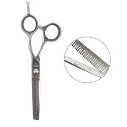 Филировочные ножницы для стрижки ESTET с черными кольцами 5,5 (ЭС)