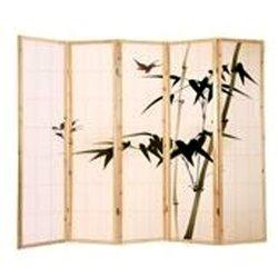 Ширма Viki - деревянный японский - песочный (роспись)