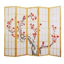 Ширма Viki - деревянный японский, 5 сегментный (сакура)
