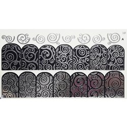 Слайдер дизайн №58 - серебро-черный (двойной фольгированный)