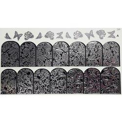 Слайдер дизайн №59 - серебро-черный (двойной фольгированный)