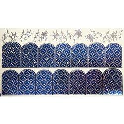 Слайдер дизайн №88 - серебро-синий (двойной фольгированный)