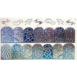 Слайдер дизайн №97 - серебро-синий (двойной фольгированный)