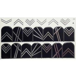 Слайдер дизайн №99 - серебро-черный (двойной фольгированный)