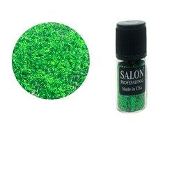 Паетки в бутылочке Salon стружка полоски зеленый