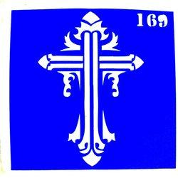 Трафарет для тату №169 YRE - крест