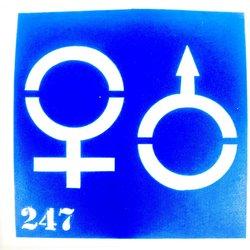 Трафарет для тату №247 - мужской,женский знак YRE