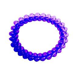 Резинка пружинка большая прозрачная - фиолетовая