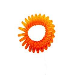 Резинка пружинка маленькая прозрачная - оранжевая