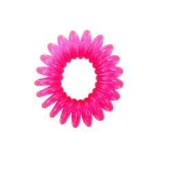 Резинка пружинка маленькая прозрачная - розовая