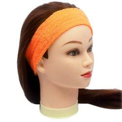 Повязка для волос YRE, сплошная - оранжевая, 1 шт