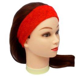Повязка для волос YRE, сплошная - красная, 1 шт