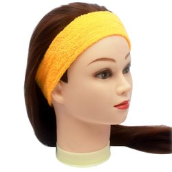 Повязка для волос YRE, сплошная - желтая, 1 шт