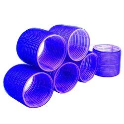 Бигуди липучки YRE 66 мм - синий, 6 шт