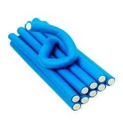 Бигуди-папильотки YRE - синий, 18х235 мм