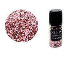 Паетки в бутылочке Salon соты, бледо - розовый