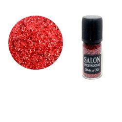 Паетки в бутылочке Salon соты, красный