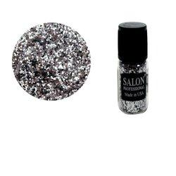 Паетки в бутылочке Salon соты, серебро
