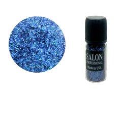 Паетки в бутылочке Salon стружка полоски синий
