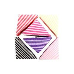 Спонж для макияжа Puffy треугольнички разноцветные, 6 шт