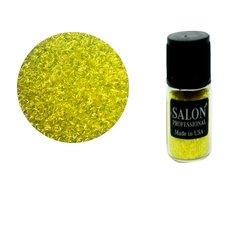 Паетки в бутылочке Salon стружка полоски желтый