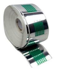 Форма для наращивания ногтей YRE узкая - зеленый с серебром, 500 шт