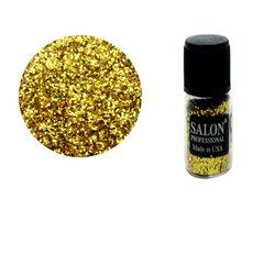 Паетки в бутылочке Salon соты, золото