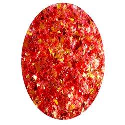 Фольга битое стекло в баночке Starlet - красный перламутр