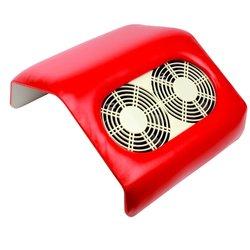 Вытяжка на 2 вентилятора красная