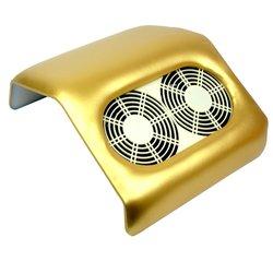 Вытяжка на 2 вентилятора золото
