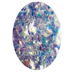 Фольга битое стекло в баночке Starlet - белый голографик