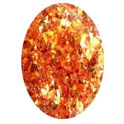 Фольга битое стекло в баночке Starlet - оранжевый перламутр