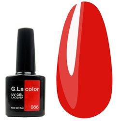 Гель-лак G.La color №66 - красный, 10 мл