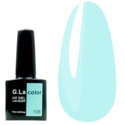 Гель-лак G.La color №108 - нежно-голубой, 10 мл