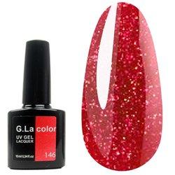 Гель-лак G.La color №146 - красный с микроблеском, 10 мл