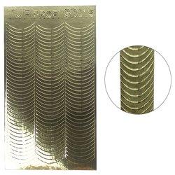 Металлизированные наклейки для ногтей TUFI Profi GD-015