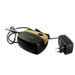 Набор для аэрографии с аэрографом и миникомпресором TG216GB/TG135N, сопло 0,3мм (Tagore)