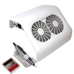 Вытяжка на 2 вентилятора с фрезером белая