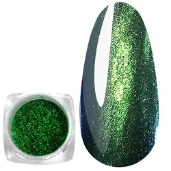 Зеркальная пудра-голографик - зеленый